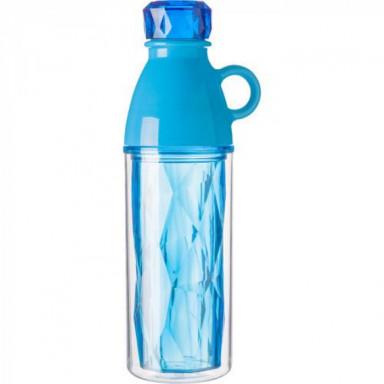 Пластиковая бутылка с крышкой и чашкой для питья
