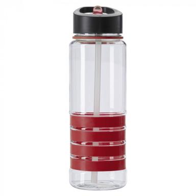 Бутылка для питья из тритана со складным носиком и трубочкой