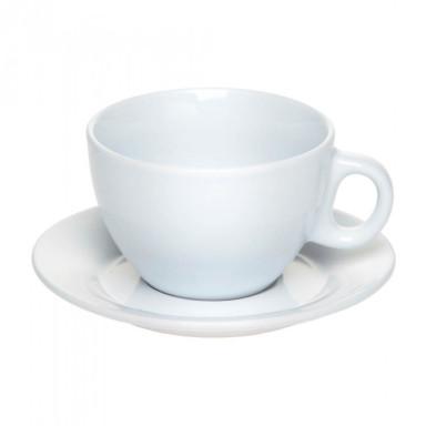 Изящная чашка конусовидной формы с блюдцем