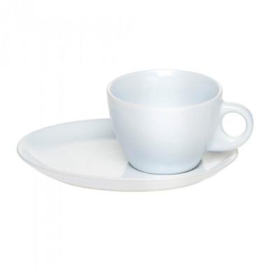 Чашка с блюдцем из высококачественной керамики повышенной белизны