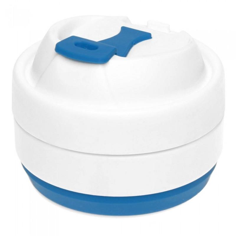 Складная силиконовая чашка с крышкой