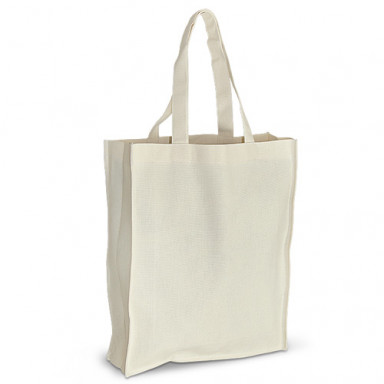 Эко-сумка из хлопка (35x10х42 см.), 210г/м2.