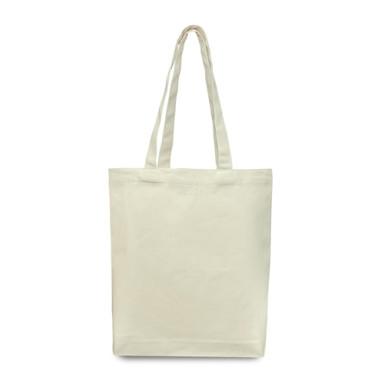 Эко-сумка из хлопка с дном (36х38х7) см., 240г/м2