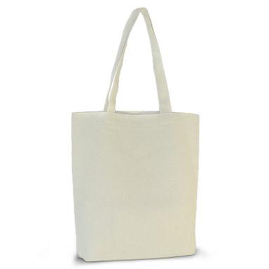 Эко-сумка из хлопка (39х41х8) см., 210г/м2.