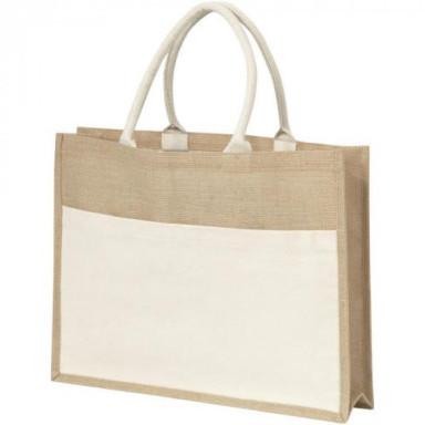Эко сумка для покупок из натуральной джутовой ткани