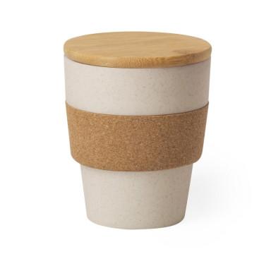 Бамбуковый стакан с крышкой на 350 мл