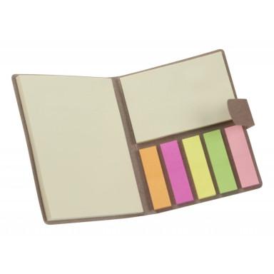 Экологический блокнот для заметок со стикерами в чехле