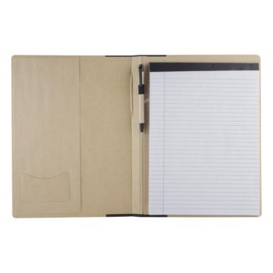 Эко папка А4 формата с блокнотом и ручкой