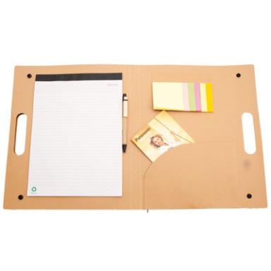 Эко папка для документов с блокнотом