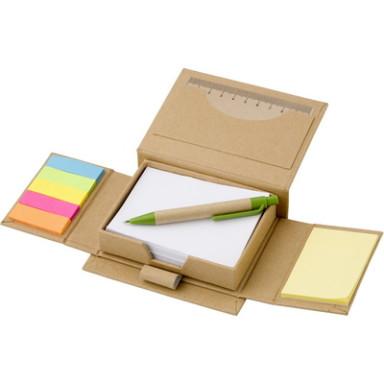 Эко набор для заметок со стикерами и эко ручкой