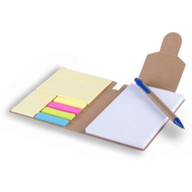 Эко набор для заметок с блокнотом, ручкой и стикерами