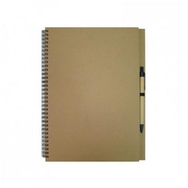 Эко-блокнот А4 формата на 60 листов с ручкой.