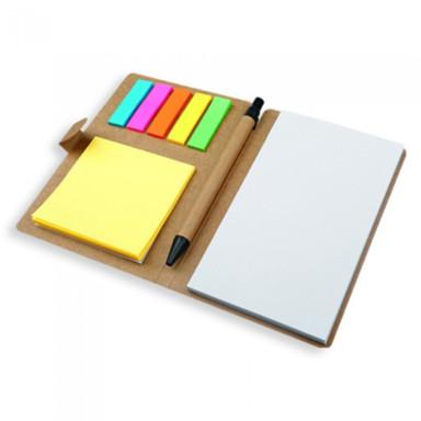 Эко блокнот с ручкой и стикерами