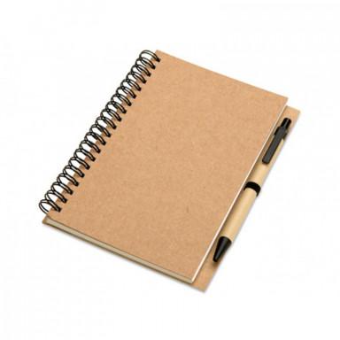 Эко-блокнот B6 формата на 70 листов с ручкой