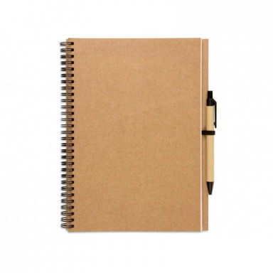 Эко-блокнот А4 формата на 100 листов с ручкой.