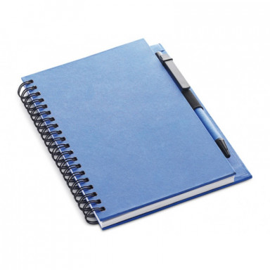 Эко-блокнот B5 формата на 70 листов с ручкой