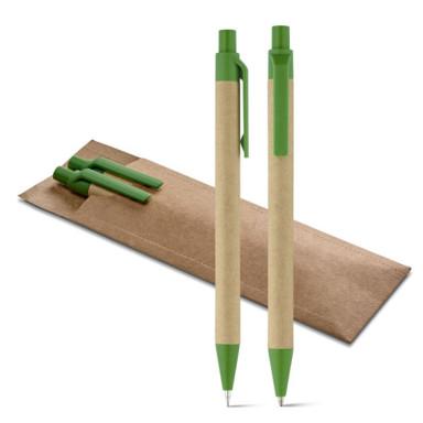 Подарочный эко набор в футляре: ручка + карандаш