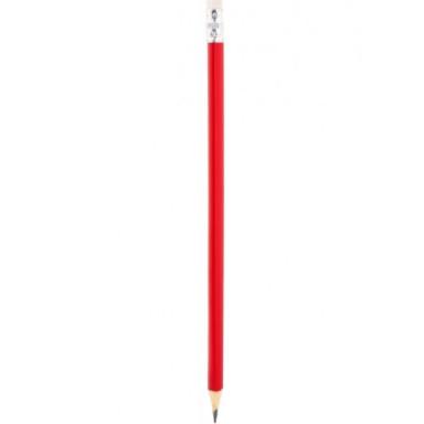 Трехгранный заточенный простой карандаш с ластиком под логотип
