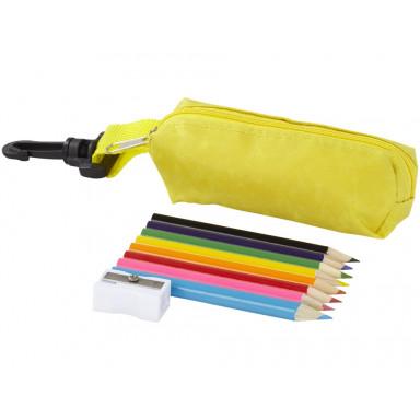 Набор из 8 цветных карандашей  в футляре из полиэстера
