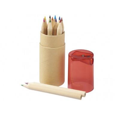 Набор из 12 карандашей в эко тубусе