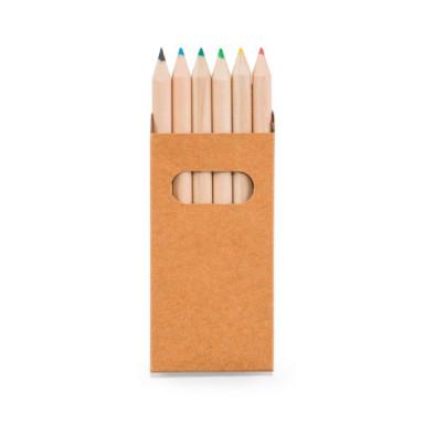 Набор с цветными карандашами в картонной коробке (6 шт.)