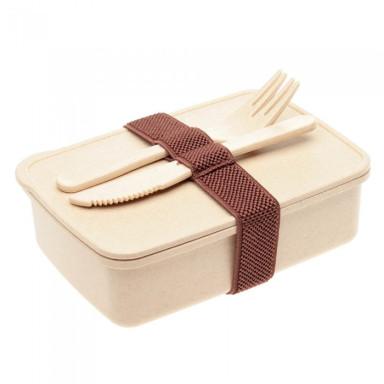 Эко ланч-бокс из прессованной соломы пшеницы