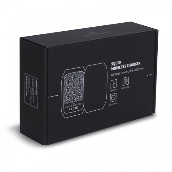 Беспроводной повербанк Xoopar SQUID QI на 7500 мА/ч со  светящимся логотипом