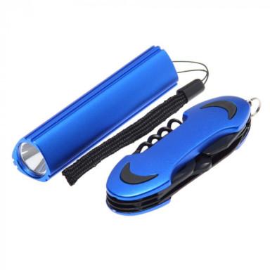 Набор с LED фонариком и многофункциональным ножом