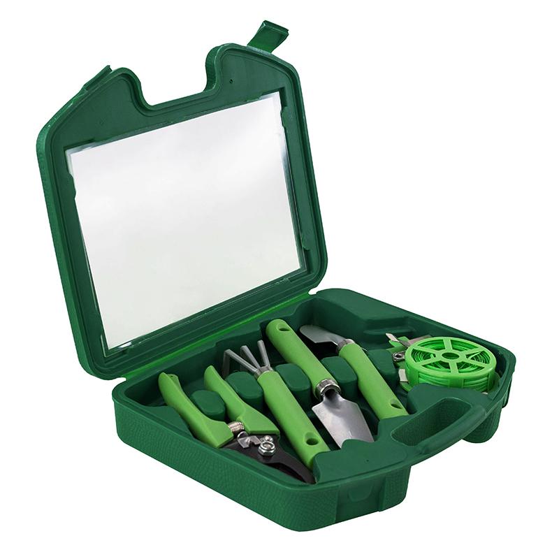 Портативный набор садовых инструментов GARDENIA 5 в 1 в чемодане