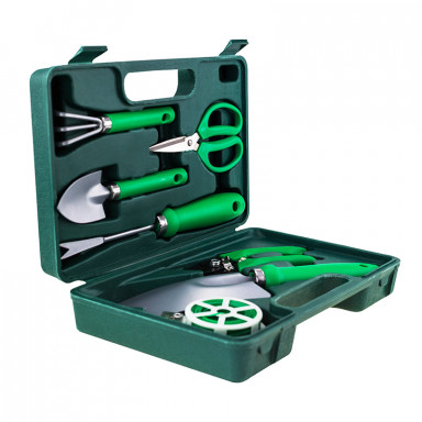 Портативный набор садовых инструментов GARDENIA PRO 7 в 1  в чемодане