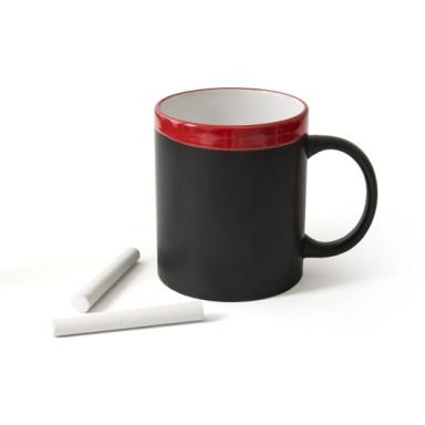 Керамическая чашка с мелом на 340 мл
