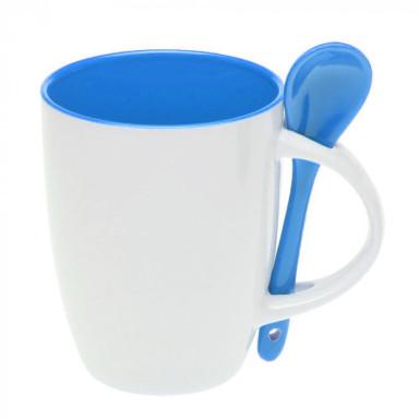 Керамическая чашка с ложкой на 300 мл