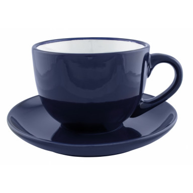 Керамическая чашка  с блюдцем на 250 мл