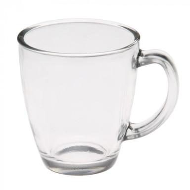 Чашка стеклянная глянцевая на 325 мл