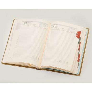 Ежедневник А5 датированный, кремовый блок
