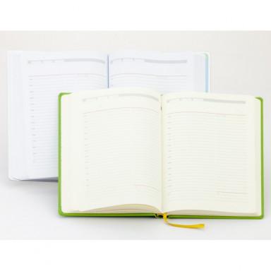 Ежедневник А5 недатированный, белый или кремовый блок