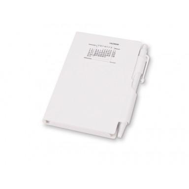 Записная книжка с ручкой, белые чистые листы