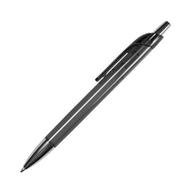Яркая шариковая ручка из полупрозрачного глянцевого цветного пластика