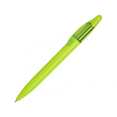 Ручка пластиковая шариковая с хайлайтером