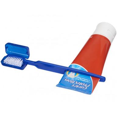 Зубная щетка с крышкой и выжимателем