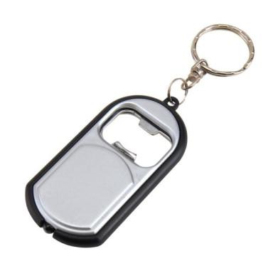 Брелок OPEN LIGHT со светодиодным фонариком, открывалкой и кольцом для ключей