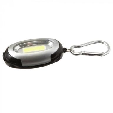 Пластиковый брелок-фонарик с металлическим карабином