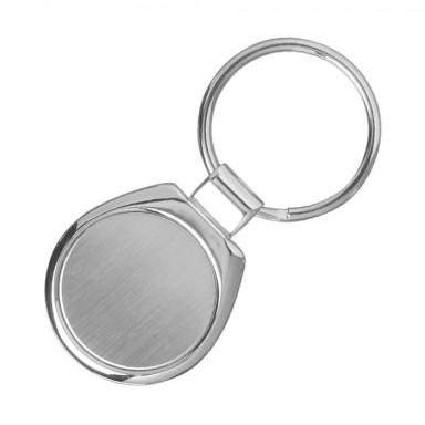 Брелок округлой формы с кольцом под ключ