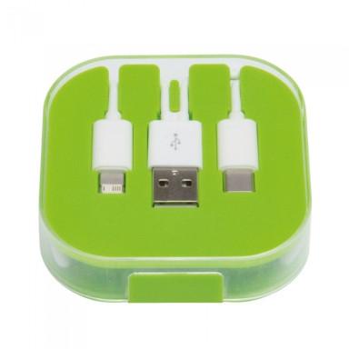 Зарядный кабель-переходник  3 в 1 для зарядки электронных устройств