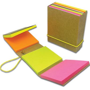 Блокнот 65х75 мм со стикерами Post-It ярких цветов
