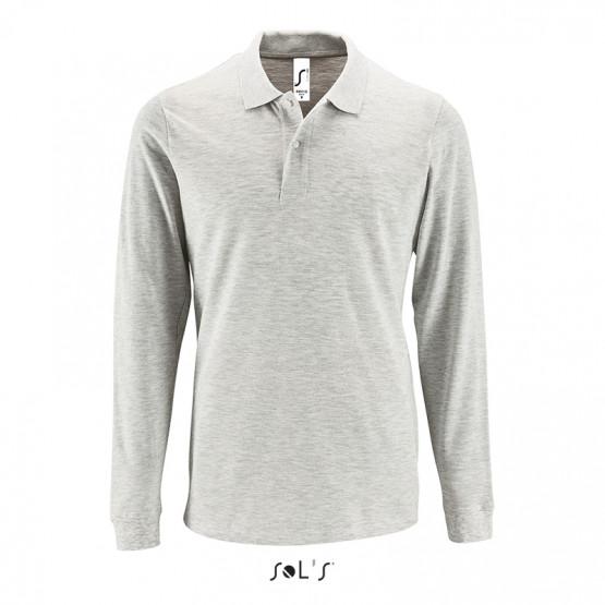 789d98f75c1bd Мужская рубашка поло с длинным рукавом PERFECT LSL MEN с логотипом
