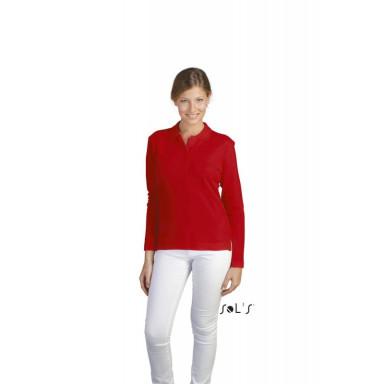 Женская рубашка поло с длинным рукавом SOL'S PODIUM