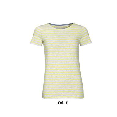 Женская футболка с круглым воротом в полоску MILES WOMEN SOL'S