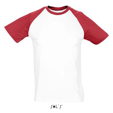 Мужская двухцветная футболка SOL'S FUNKY