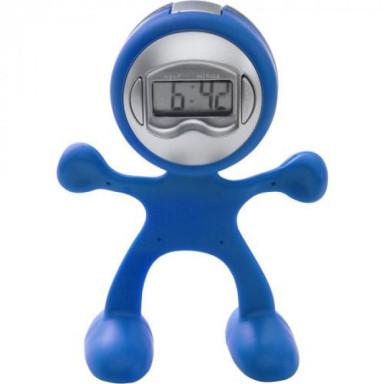 Пластиковые настольные часы-будильник Flexi в форме человека